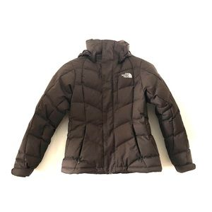 The North Face Chocolate Ski Puffer Down Coat XS